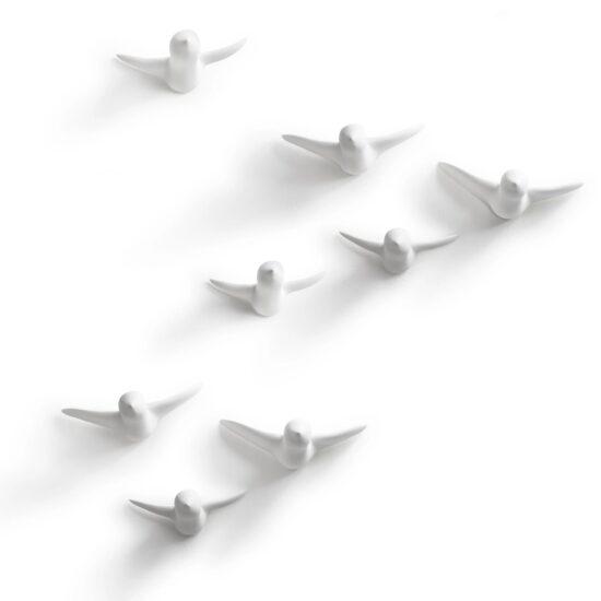 Flock of Birds, Keraamika valge 8tk, seina dekoratsioon
