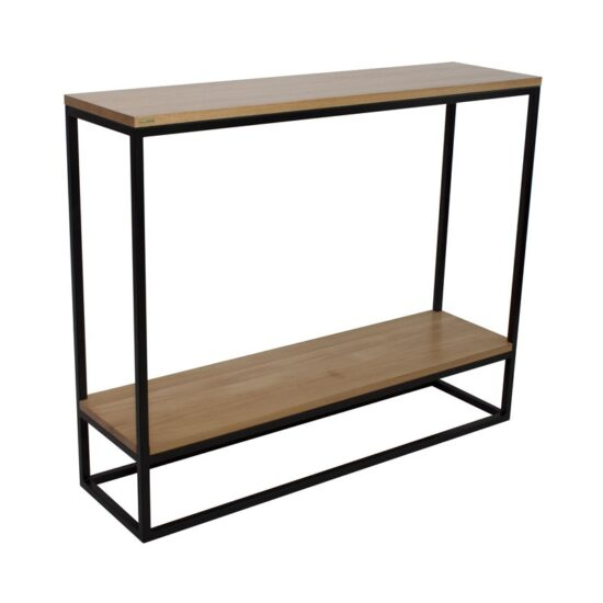 SKINNY Tamm minimalistlik konsoollaud riiuliga