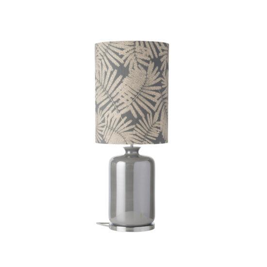 Pillar lauavalgusti Fern leaves wild, grey glitter