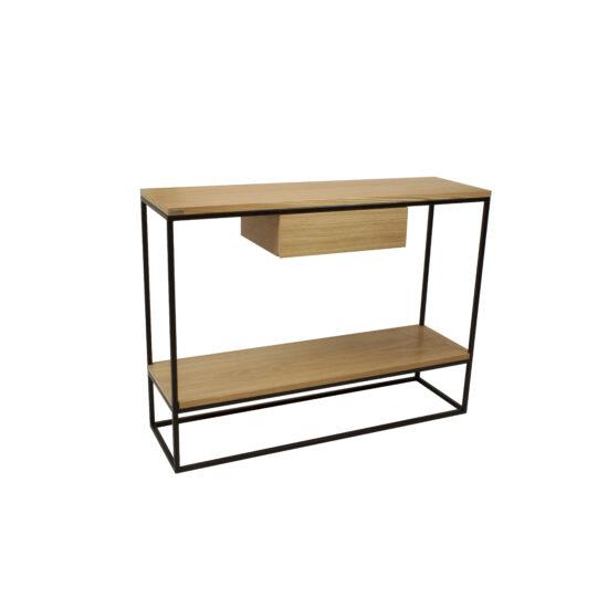 SKINNY Tamm minimalistlik konsool laud sahtliga