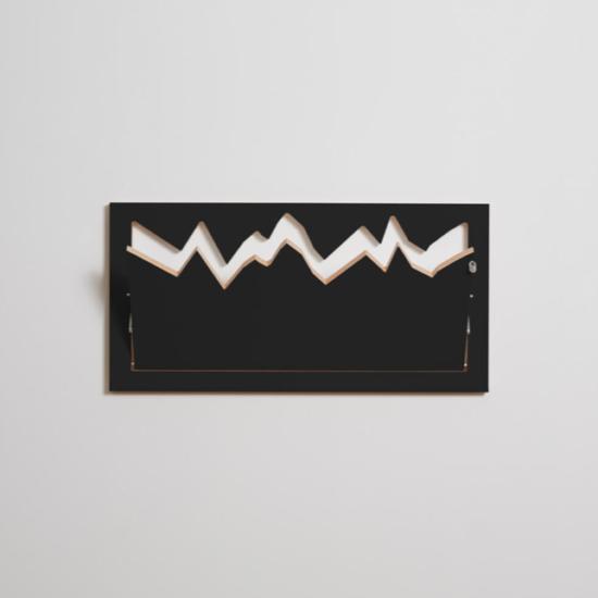 Fläpps kokkuklapitav riidenagi seinale, must