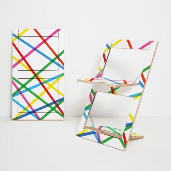 Fläpps kokkuklapitav tool, Colored Lines