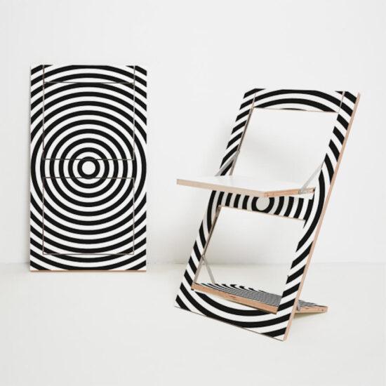 Fläpps kokkuklapitav tool, Op Art Circle