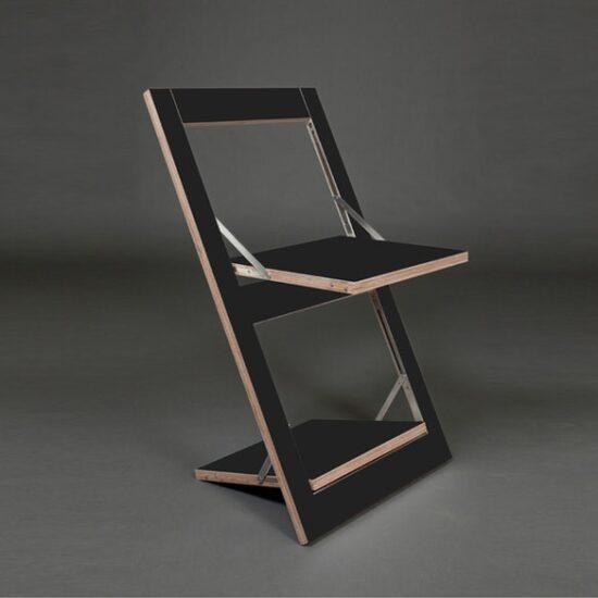Fläpps kokkuklapitav tool, must