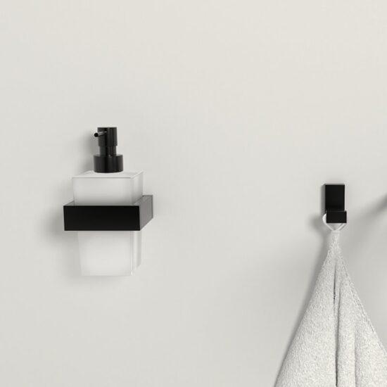 Design rätikunagi seinale Steinberg, matt must