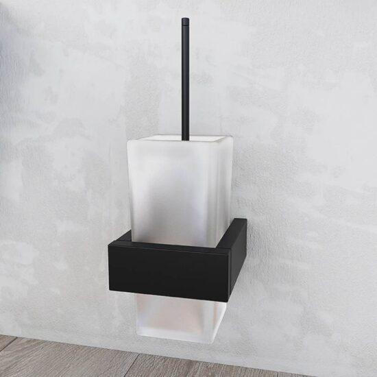 Design tualetihari ja hoidik seinale Steinberg, matt must