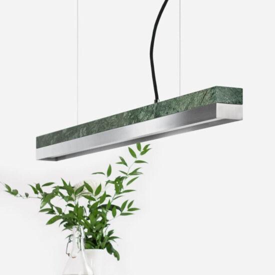 C2 Roostevaba – light Verde Guatemala marble laevalgusti
